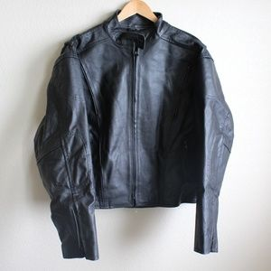 Womens USA Leather Motorcycle Coat
